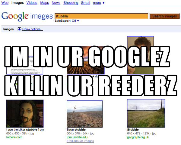 IM IN UR GOOGLEZ KILLIN UR REEDERZ