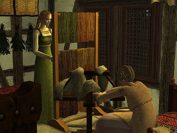 Githa stared suspiciously through the wool at her mother.