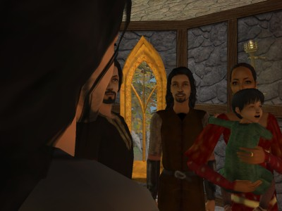 Alred's greeting was cut off abruptly as he bounced into the hall.