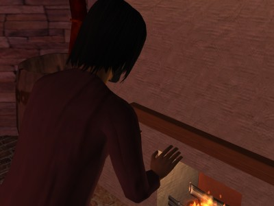 Egelric only watched the burning log.