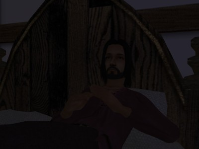 Egelric lay fully-clothed and half-awake on the bed.