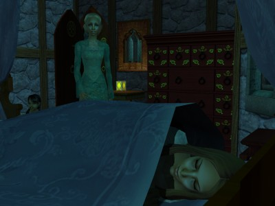 Eadgith closed her eyes and pretended to sleep as her mother came in.