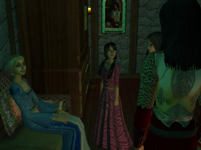 Egelric was surprised to find Iylaine looking happier and more at ease than Lady Gwynn and Lady Margaret.