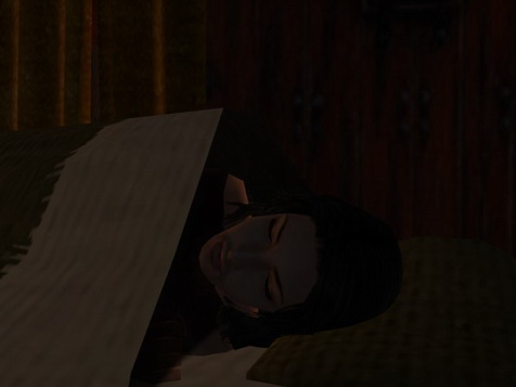 Caedwulf was in a bed not his own, alone.