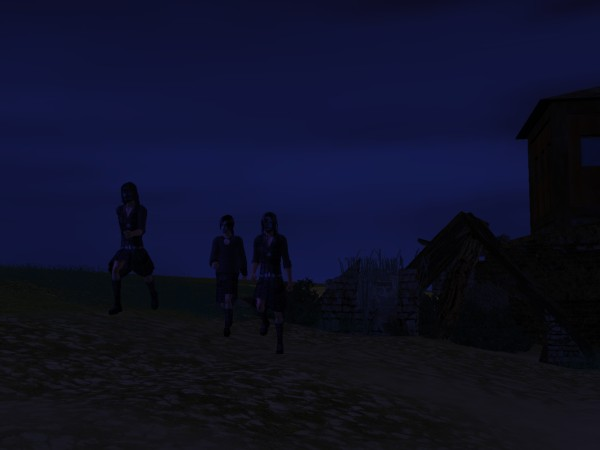 They raced along the flank of the dunes at full stride.