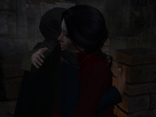 Leofric staggered and caught her up tightly in his arms.