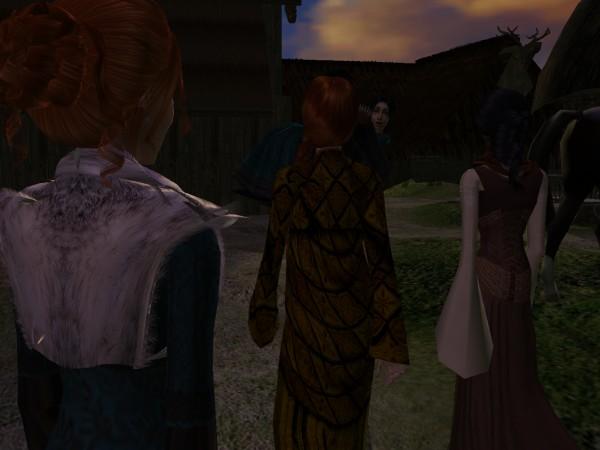 Orlaith and Aibinn fell in behind him.