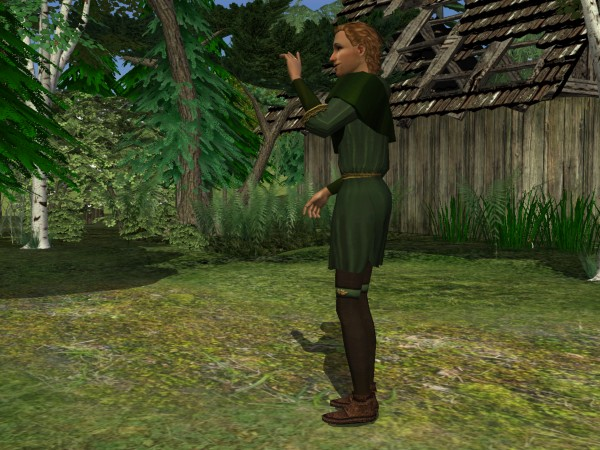 'Robin Hood tunic - side view'