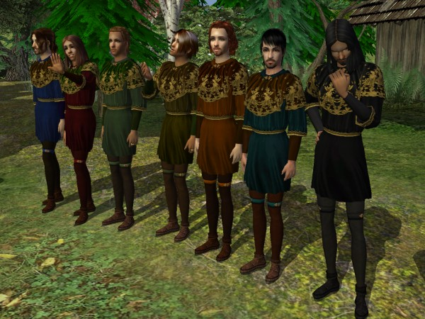 Robin Hood tunic - 7 formal recolors