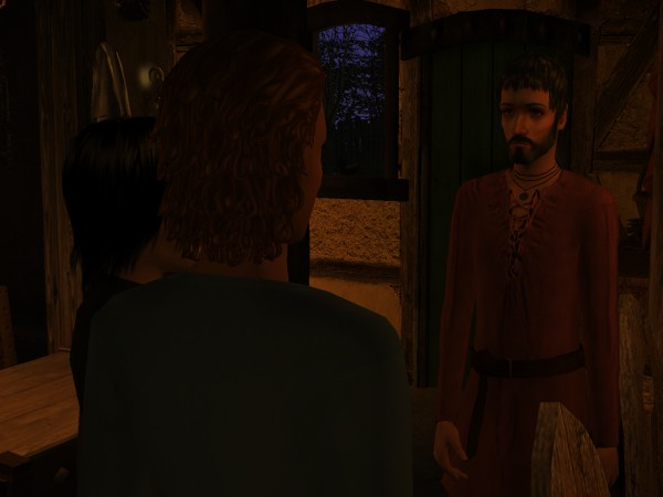 Ethelwyn recognized his face as he came closer.