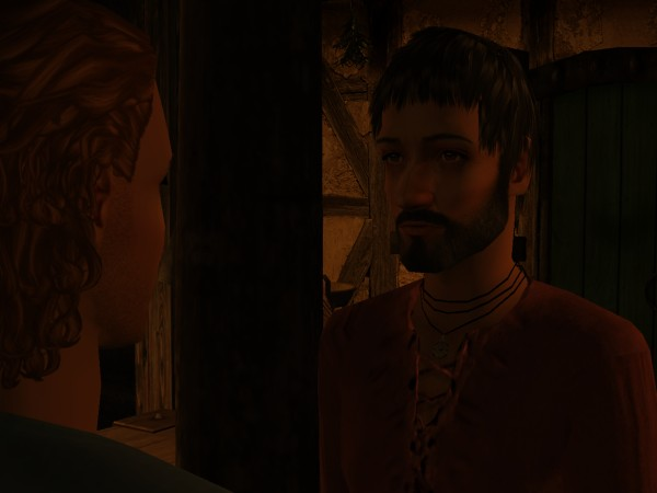 Egelric's expression did not change at all.