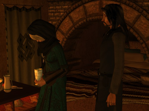 'And when Uallach is sick afterwards, your mother makes her get down on her knees and clean it up.'